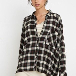 BDG Black-White-Red Check Flannel from UO